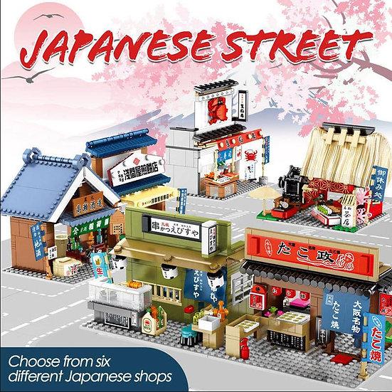 森寶-日式和風街景小吃積木