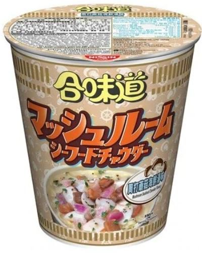 日清 合味道 周打蘑菇海鮮湯味杯麵 75G