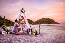 Pedido de Casamento Praia Ilha Mel