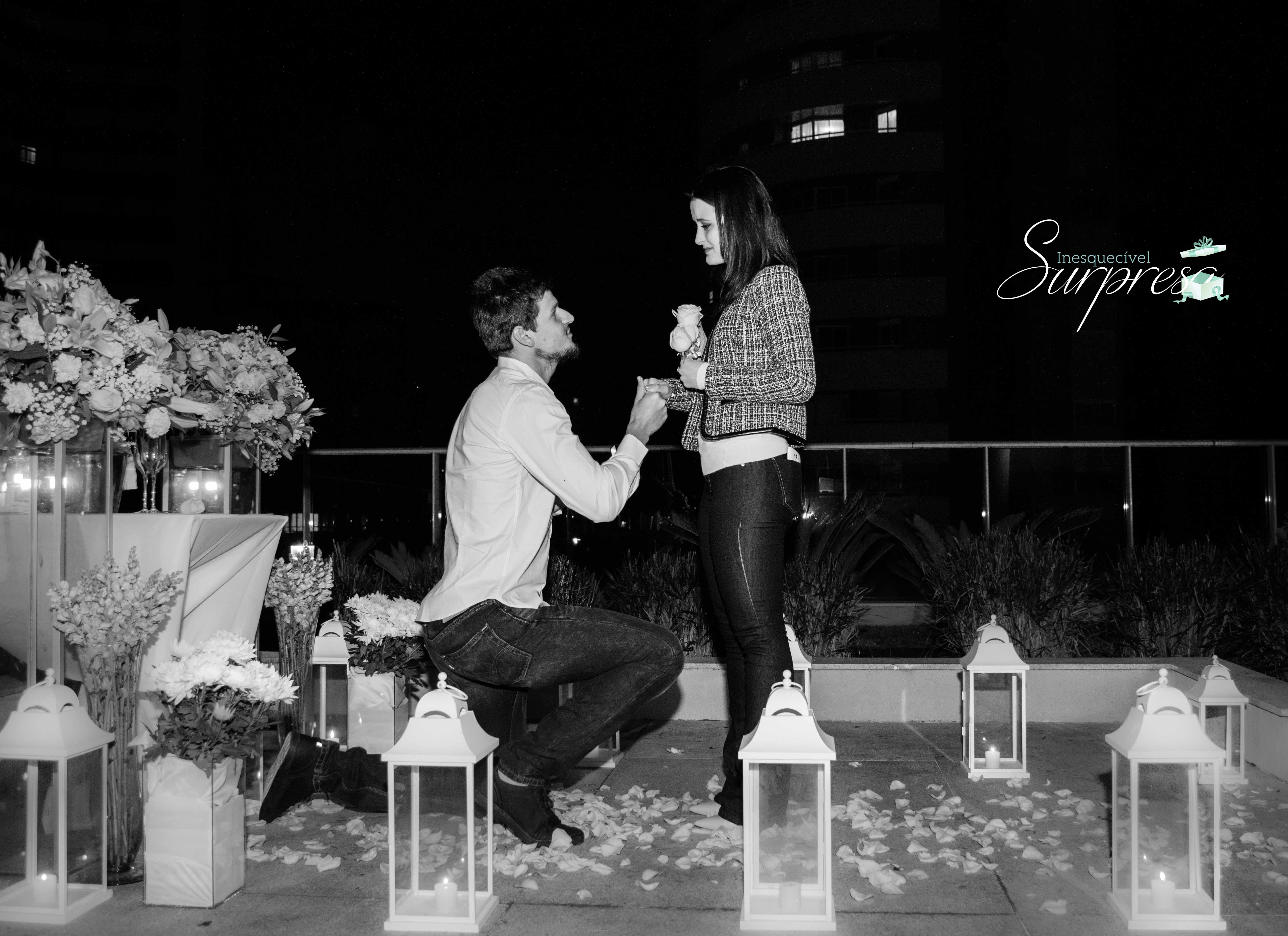 pedido de casamento emocionante