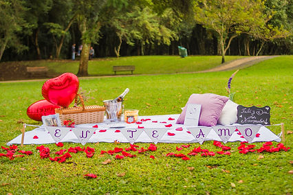 Piquenique romântico surpresa dia dos namorados