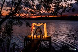 Lindo pedido de Casamento no lago