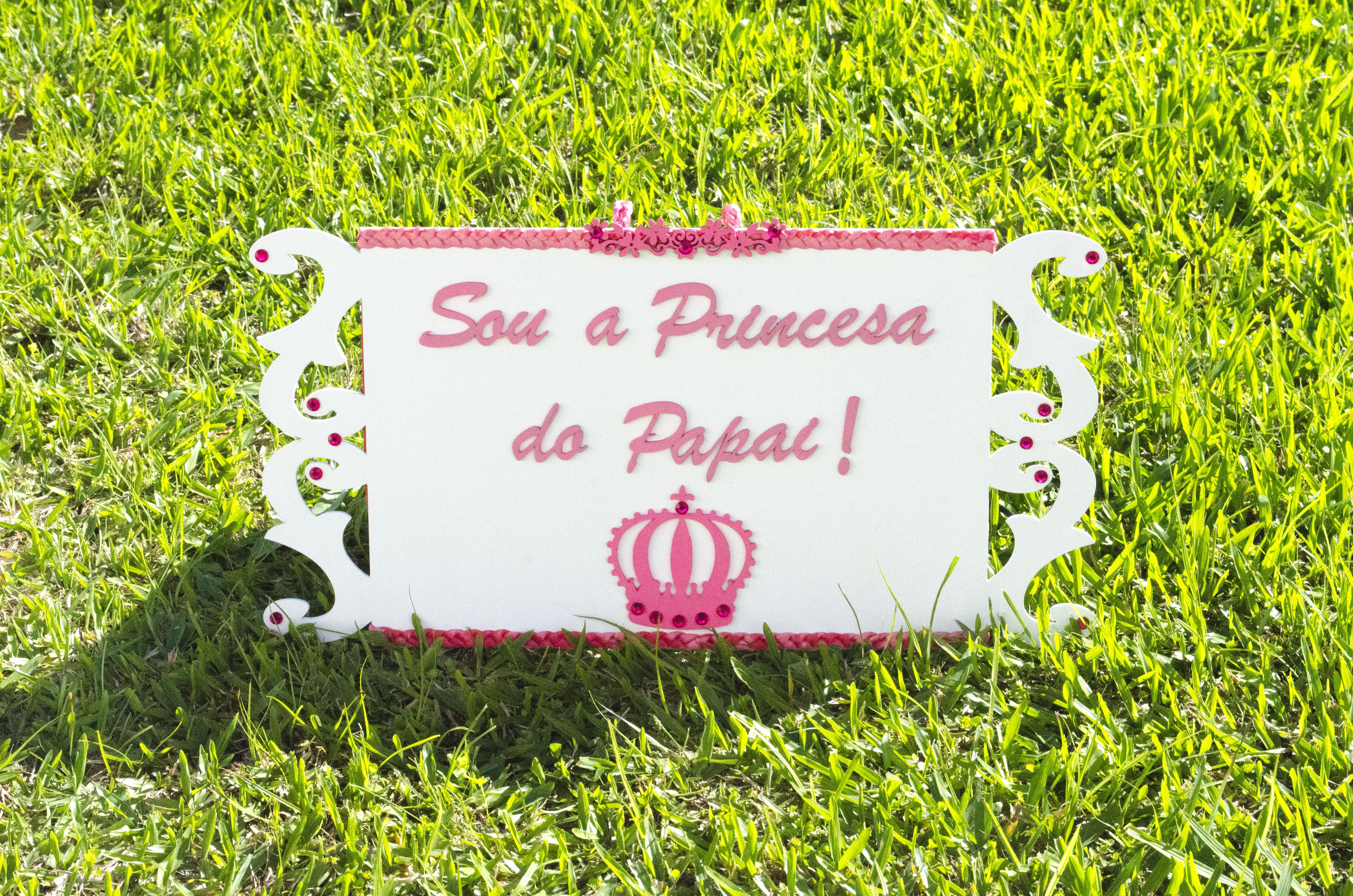 placa sou uma princesa