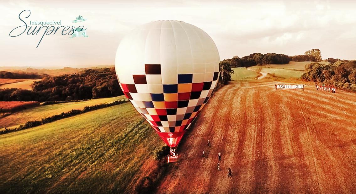Pedido de Casamento no Balão de Ar