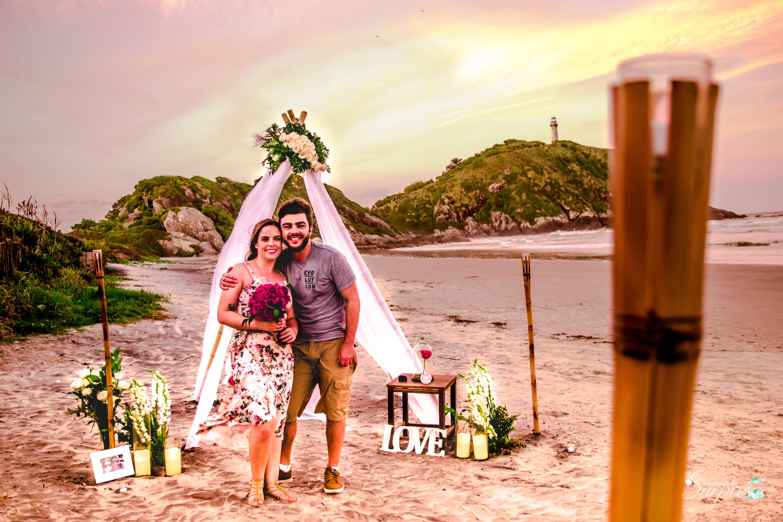 Pedido de casamento na ilha do mel