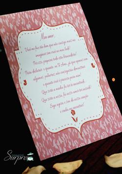 carta romantica surpresa