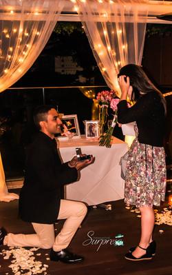 Pedido de casamento romântico