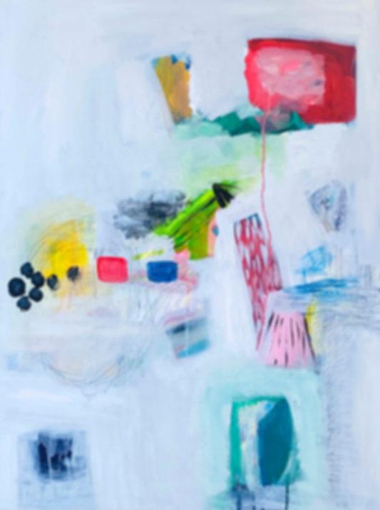 playingfield.jpg abstract painting, ingvill gaarder, visual art,