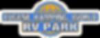 EKW Logo-Large RV Park Letters-Blu_Org-W