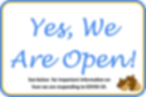 Yes We Are Open COVID19 sign.png