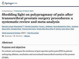 polypragmasy prsotate endoscopic surgeri