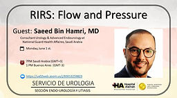 RIRS: flow and pressure -