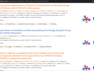 Artigo COVID19 e Urologia é o mais citado da UFSC em 2020