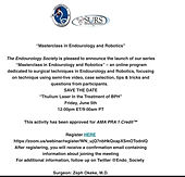 """""""Masterclass in Endourology and Robotics"""" Thulium in the treatment of BPH"""