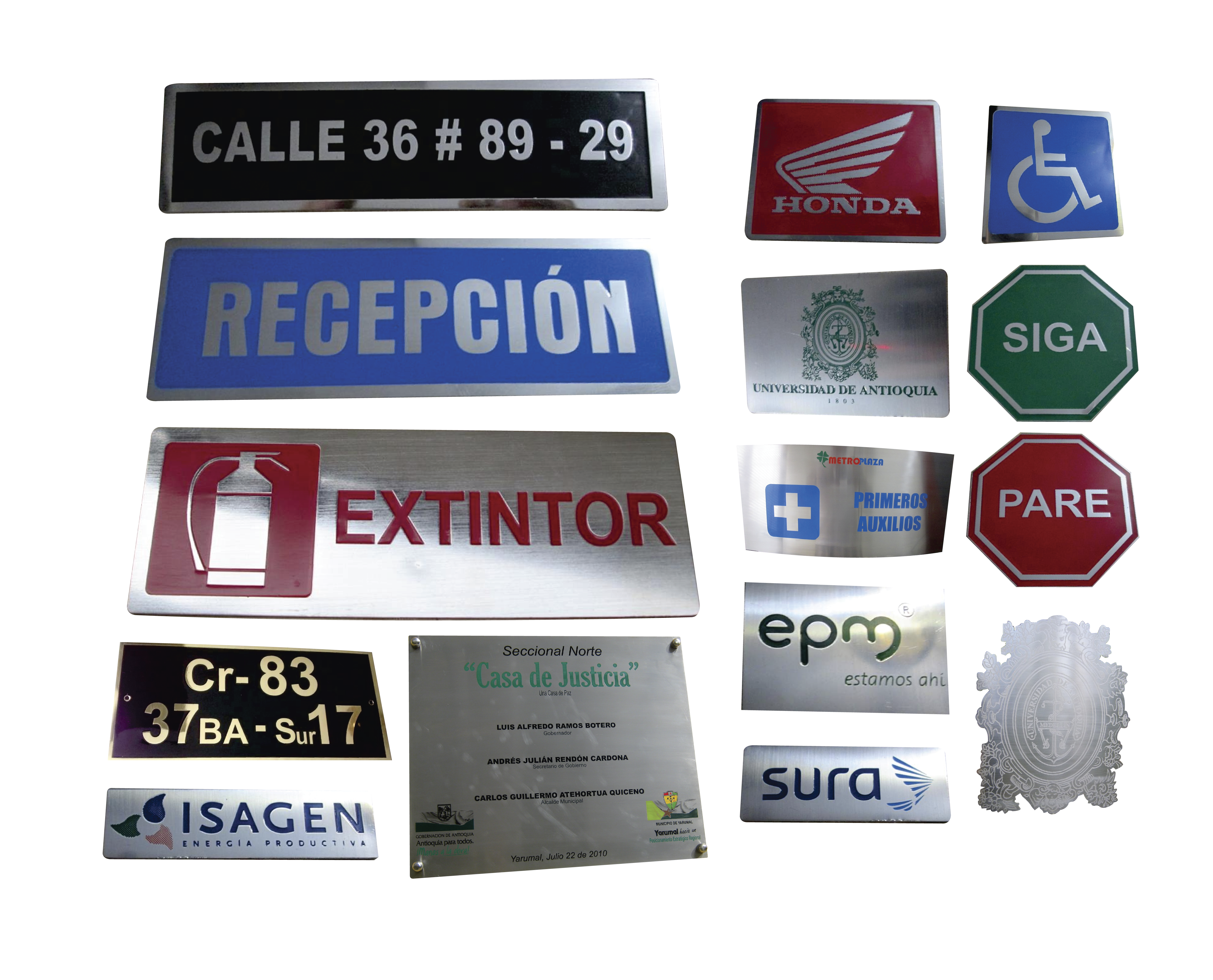 placas varias
