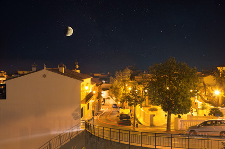 Benalmadena pueblo during eclipse (