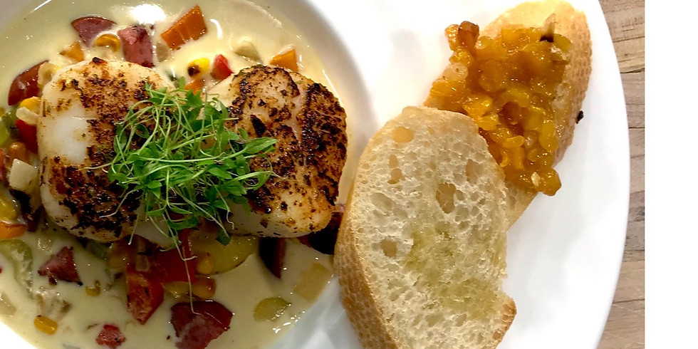 WC | Cooking Class: Signature Jerk Scallop Chowder | West Coast