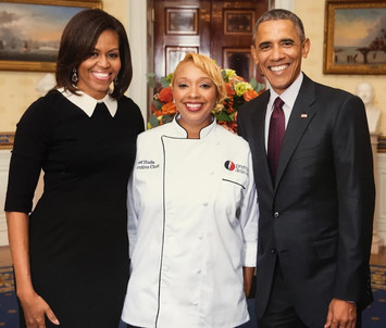 Chef Huda with President Obama & FL Mich