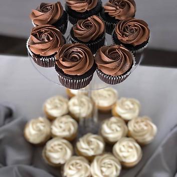 Chocolate and Yellow Kupcakes