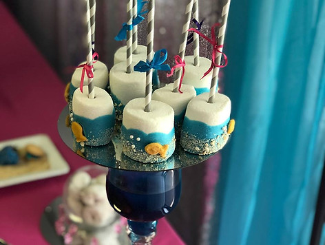 Mermaid Themed Marshmallows