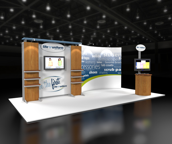 62923R2-10x20-Exhibit trade show display