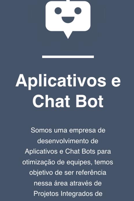 Aplicativos e Chat Bots