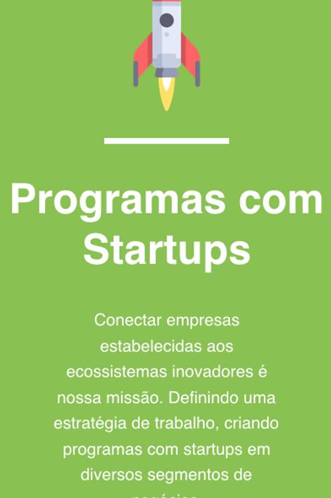 Programas com Startups