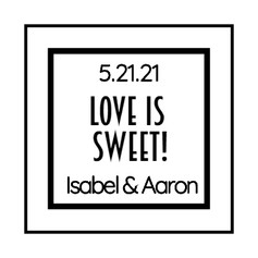 1.6 Wedding Label