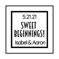 1.5 Wedding Label