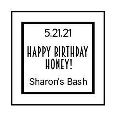 2.4 Birthday Label