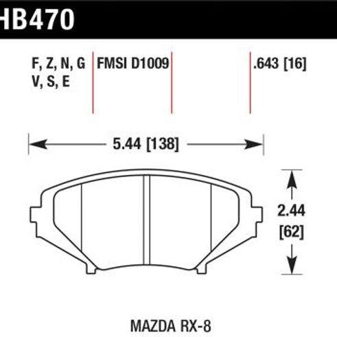 Hawk HP Plus Front Brake Pads HB470N.643