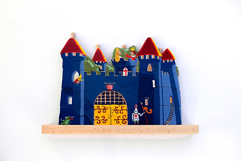 Puzzle vertical château fort