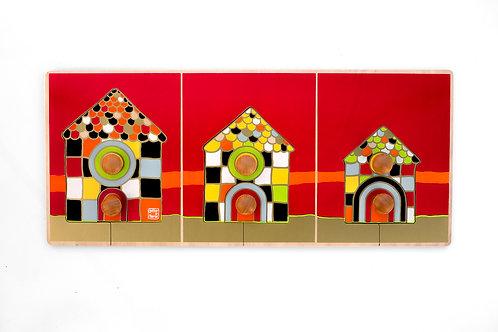 Encastrement maisons mosaïques doubles