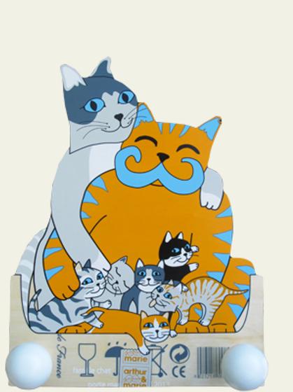 Porte-manteau famille chatchat