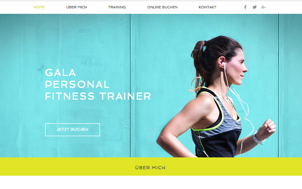 Alle Designvorlagen website templates – Personaltrainer