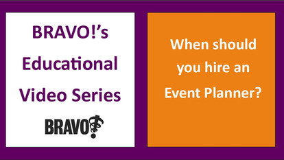 When should you hire an Event Planner?