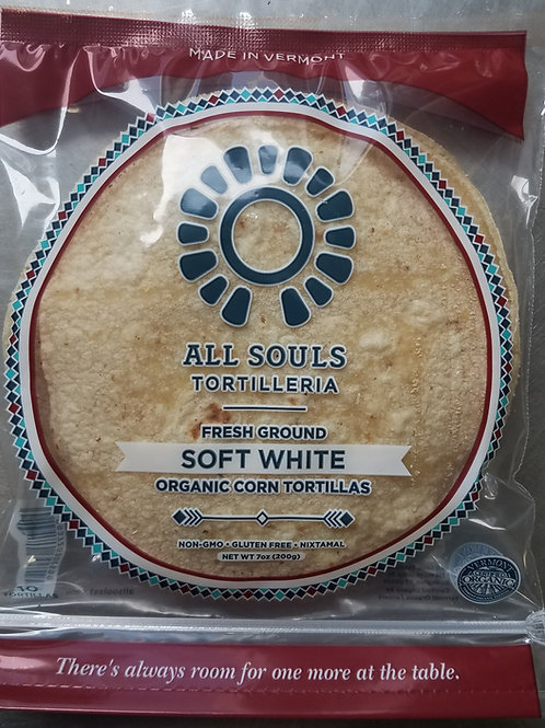 Soft White Organic Corn Tortillas - 48 ct