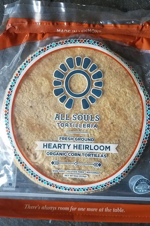 Heirloom Organic Corn Tortillas, 8, 24, and 48 ct