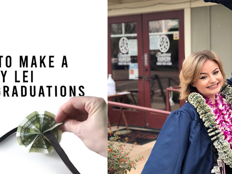How to Make a Money Lei for Graduations!