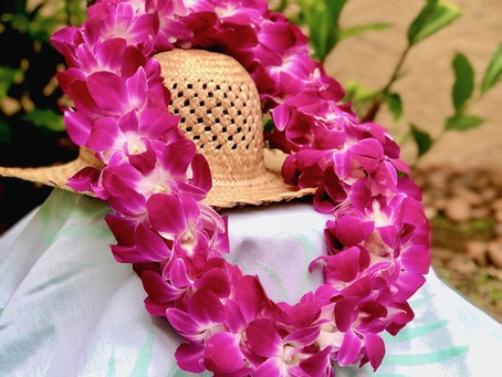 How to make a precious double orchid lei
