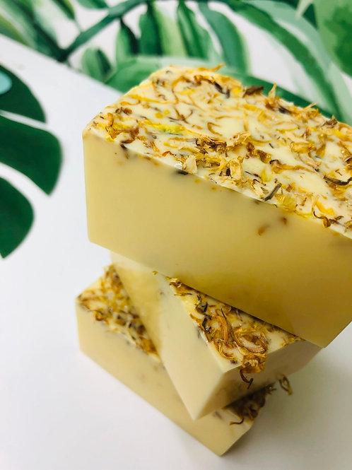 LEMONGRASS Vegan Soap with Turmeric and Calendula
