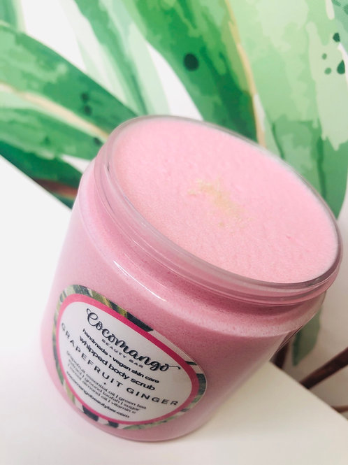 GRAPEFRUIT GINGER Whipped Scrub with Green Tea Extract and Ground Luffa