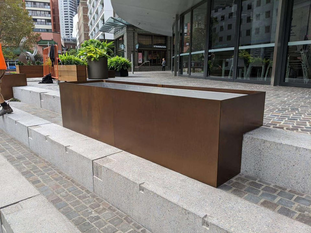 Electroplated Planter Boxes - Darling Square