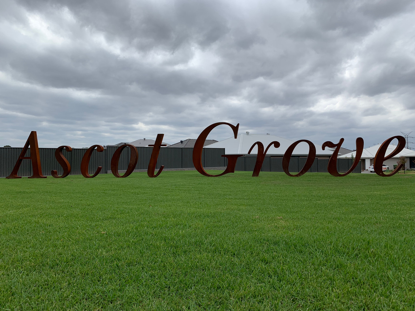 """Ascot Grove"" Sign - Catherine Park"