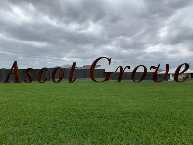 """Ascot Grove"" Sign - Catherine Park"