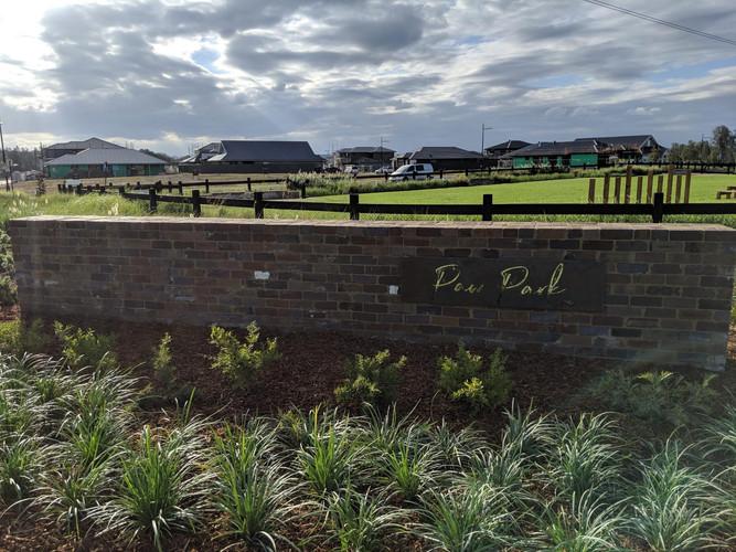 """Paw Park"" sign - Catherine Park Estate"