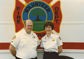 Founding Fire Chief Kathy Golden & Curti