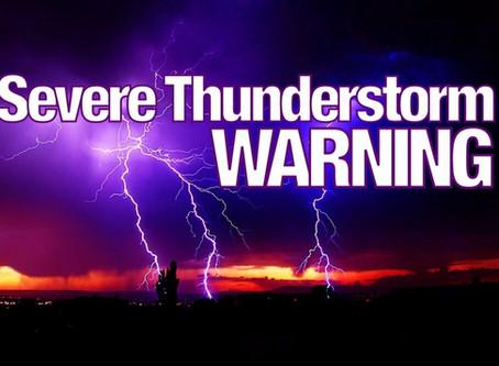 Severe Thunderstorms Warning