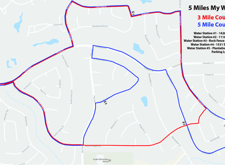 5 Miles My Way Course Map