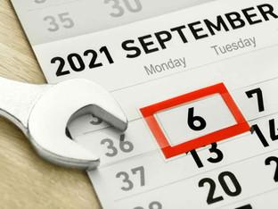 No School Monday September 6th, Labor Day